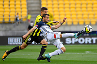 Melbourne Victory&rsquo;s Carl Valeri in action during the A League - Wellington Phoenix v Melbourne Victory FC at Westpac Stadium, Wellington, New Zealand on Sunday 3 December.<br /> Photo by Masanori Udagawa. <br /> www.photowellington.photoshelter.com