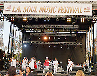 LOS ANGELES, CA -JULY 23: Singing Group Loose Ends performs at the 1st Annual Los Angeles Soul Music Festival at the Autry in Griffith Park on July 23, 2016 in Los  Angeles, California. Credit: Koi Sojer/Snap'N U Photos/MediaPunch
