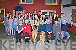 21ST BIRTHDAY: Dara Ó Cinneide, Marian Park, Tralee with his dog Patsy (seated centre) having a great time with family and friends at the Munster bar, Tralee on Saturday.