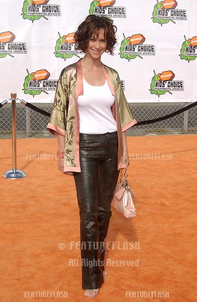 Actress JENNIFER LOVE HEWITT at Nickelodeon's 16th Annual Kids' Choice Awards in Santa Monica..April 12, 2003.