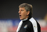 Pictured: Newcastle coach Peter Beardsley Monday 04 April 2016<br />