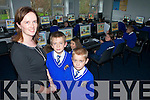 NEW COMPUTERS ROOM: Teacher Maire Lynch shows pupils Cian Twohig and Petir Duda the new computer room which was officially blessed by Monsignor Dan O'Riordan on Tuesday morning in CBS Primary School.   Copyright Kerry's Eye 2008