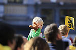 Young fan amongst the 25,000 crowd gathered at sign on before the 101st edition of the Tour of Flanders 2017 running 261km from Antwerp to Oudenaarde, Flanders, Belgium. 26th March 2017.<br /> Picture: Eoin Clarke | Cyclefile<br /> <br /> <br /> All photos usage must carry mandatory copyright credit (&copy; Cyclefile | Eoin Clarke)