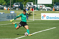Kansas City, MO - Saturday May 13, 2017:  Adrianna Franch during a regular season National Women's Soccer League (NWSL) match between FC Kansas City and the Portland Thorns FC at Children's Mercy Victory Field.