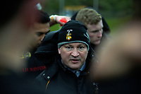 Wellington Coillege coach Lincoln Rawles during the Weltec Premiership Wellington secondary schools 1st XV rugby final between St Patrick's College Silverstream and Wellington College at Porirua Park in Wellington, New Zealand on Sunday, 20 August 2017. Photo: Dave Lintott / lintottphoto.co.nz