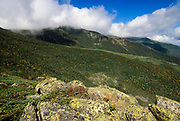 Looking across the Gulf of Slides from Glen Boulder Trail in Sargent's Purchase in the New Hampshire White Mountains.