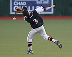 Coronado's Tyler Brown tries to track down a fly ball to shallow right field in the state championship baseball game against Bishop Gorman at the University of Nevada, Reno, in Reno, Nev., on Saturday, May 19, 2012. Gorman won 11-1 for their seventh-straight NIAA 4A title..Photo by Cathleen Allison