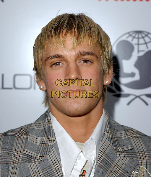 AARON CARTER.Will.i.am Music Group and RBK's Tsunami Relief Benefit Concert held at Avalon in Hollywood, California .February 11th, 2005.headshot portrait.www.capitalpictures.com.sales@capitalpictures.com.Supplied By Capital PIctures