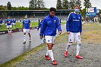 Seung-ho Paik (SV Darmstadt 98) und Tim Skarke (SV Darmstadt 98) nach dem Spiel<br /> <br /> - 23.05.2020: Fussball 2. Bundesliga, Saison 19/20, Spieltag 27, SV Darmstadt 98 - FC St. Pauli, emonline, emspor, v.l. <br /> <br /> Foto: Florian Ulrich/Jan Huebner/Pool VIA Marc Schüler/Sportpics.de<br /> Nur für journalistische Zwecke. Only for editorial use. (DFL/DFB REGULATIONS PROHIBIT ANY USE OF PHOTOGRAPHS as IMAGE SEQUENCES and/or QUASI-VIDEO)