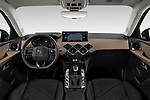 Stock photo of straight dashboard view of 2019 Ds DS-3-Crossback Grand-Chic 5 Door SUV Dashboard