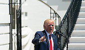 July 15, 2019 - Washington, DC, United States: United States President Donald J. Trump speaks at the 3rd Annual Made in America Product Showcase at the White House. <br /> Credit: Chris Kleponis / Pool via CNP