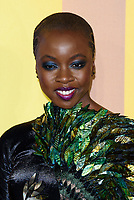 LONDON, ENGLAND - FEBRUARY 8: Danai Gurira arrives at the 'Black Panther' European premiere at the Eventim Apollo, on February 8th, 2018 in London, England. <br /> CAP/JC<br /> &copy;JC/Capital Pictures