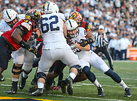 College Park, MD - November 25, 2017: Penn State Nittany Lions tight end Mike Gesicki (88) scores a touchdown during game between Penn St and Maryland at  Capital One Field at Maryland Stadium in College Park, MD.  (Photo by Elliott Brown/Media Images International)