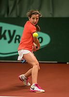Netherlands, The Hague,  March 10, 2017, Tennis,  National Indoor Junior Championships, NOJK, 12-16 years, Isis van den Broek (NED)<br /> Photo: Tennisimages/Henk Koster