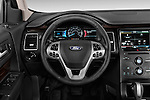 Steering wheel view of a 2013 Ford Flex SEL