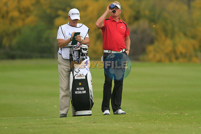 Peter Hedblom (SWE) waits to play on the 18th hole during Day 2 Friday of the Open de Andalucia de Golf at Parador Golf Club Malaga 25th March 2011. (Photo Eoin Clarke/Golffile 2011)