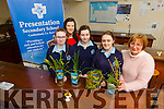 Presentation secondary school castleisland 5th year students Gillian Hanafin, Tamara Horn and Molly O'Callaghan qualified for Young Scientist Competition  pollution indicators to see if plants can reduce pollution in water project, being held in the RDS, Dublin in January 2016 here with science teachers Dayna Hurly and Veronica Ross-Dowd