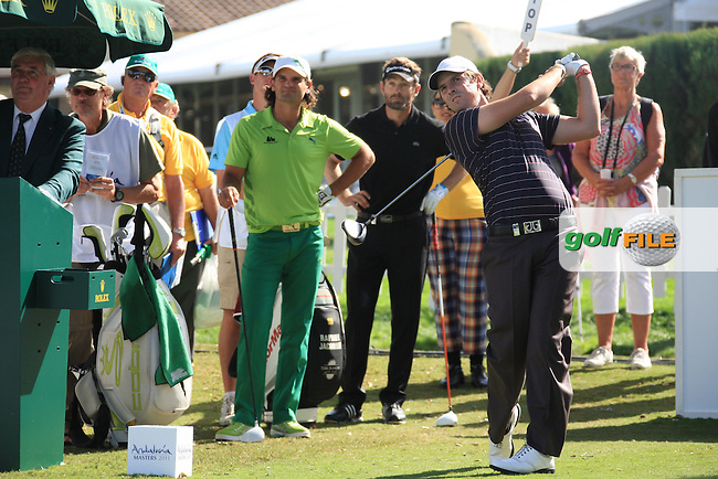 Thomas Aiken (RSA) during the 1st day at the  Andalucía Masters at Club de Golf Valderrama, Sotogrande, Spain. .Picture Fran Caffrey www.golffile.ie