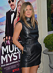 "Jennifer Aniston 053 arrives at the LA Premiere Of Netflix's ""Murder Mystery"" at Regency Village Theatre on June 10, 2019 in Westwood, California"