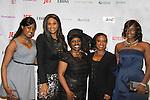 Kimmie Smith, Beverly Johnson, Alexandreena Dixon, Hanes, Bisila Bokoko at Color of Beauty Awards honoring supermodel Beverly Johnson on February 4, 2014 at Holy Apostles, New York City, New York. (Photo by Sue Coflin/Max Photos)