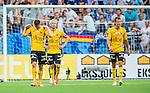 Stockholm 2014-07-07 Fotboll Allsvenskan Djurg&aring;rdens IF - IF Elfsborg :  <br /> Elfsborgs Jon J&ouml;nsson , Elfsborgs Johan Larsson och Elfsborgs Viktor Claesson ser nedst&auml;mda ut<br /> (Foto: Kenta J&ouml;nsson) Nyckelord:  Djurg&aring;rden DIF Tele2 Arena Elfsborg IFE depp besviken besvikelse sorg ledsen deppig nedst&auml;md uppgiven sad disappointment disappointed dejected