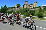 The peloton with Vasil Kiryienka (BLR) Team Sky taking up his usual position on the front during Stage 15 of the 104th edition of the Tour de France 2017, running 189.5km from Laissac-Severac l'Eglise to Le Puy-en-Velay, France. 16th July 2017.<br /> Picture: ASO/Pauline Ballet | Cyclefile<br /> <br /> <br /> All photos usage must carry mandatory copyright credit (&copy; Cyclefile | ASO/Pauline Ballet)