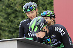 WM3 Pro Cycling Team riders at sign on before the start of the Ladies 2017 Strade Bianche running 127km from Siena to Siena, Tuscany, Italy 4th March 2017.<br /> Picture: Eoin Clarke   Newsfile<br /> <br /> <br /> All photos usage must carry mandatory copyright credit (&copy; Newsfile   Eoin Clarke)