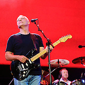 Pink Floyd - guitarist David Gilmour and drummer Nick Mason - performing live at the Live 8 concert in Hyde Park, London oUK -  02 July 2005.   Photo credit: George Chin/IconicPix