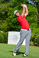 Jon Rahm (ESP) watches his tee shot on 17 during round 7 of the World Golf Championships, Dell Technologies Match Play, Austin Country Club, Austin, Texas, USA. 3/26/2017.<br /> Picture: Golffile | Ken Murray<br /> <br /> <br /> All photo usage must carry mandatory copyright credit (&copy; Golffile | Ken Murray)