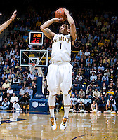 Justin Cobbs of California shoots the ball during the game against Colorado at Haas Pavilion in Berkeley, California on January 12th, 2012.   California defeated Colorado, 57-50.