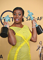 Uzo Aduba at the 2015 Screen Actors Guild  Awards at the Shrine Auditorium.<br /> January 25, 2015  Los Angeles, CA<br /> Picture: Paul Smith / Featureflash