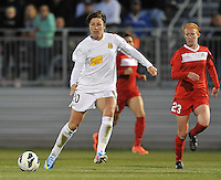 Abby Wambach (20) of the Western New York Flash. The Washington Spirit tied The Western New York 1-1 in the home opener of The National Women's Soccer League, at Maryland SoccerPlex, Saturday April 20, 2013.