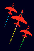 Aeroplanes flying in formation