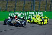 Verizon IndyCar Series<br /> Iowa Corn 300<br /> Iowa Speedway, Newton, IA USA<br /> Sunday 9 July 2017<br /> James Hinchcliffe, Schmidt Peterson Motorsports Honda, Simon Pagenaud, Team Penske Chevrolet<br /> World Copyright: F. Peirce Williams<br /> LAT Images