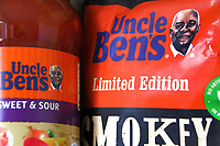 Rice company Uncle Ben's is to change the image of a black farmer, which the brand has used since the 1940s and could also be forced to change its name, as a reaction to a backlash over racial injustice<br /> Mars, who own the brand, said the fictional character of 'Uncle Ben' was first used in 1946 as a reference to an African American rice farmer. The actual image used in their branding and packaging was of a Chicago waiter named Frank Brown.The parent company will revamp the brand following calls for racial equality following the death of George Floyd and the Black Lives Matter protest campaign. June 19th 2020<br /> <br /> Photo by Keith Mayhew