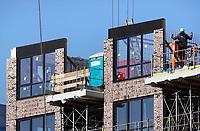 Nederland  Amsterdam -  2018.  Bouw van appartementen op de Zuidas.    Foto Berlinda van Dam / Hollandse Hoogte