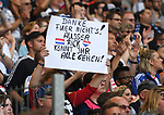 19.05.2019,  GER; 2. FBL, Hamburger SV vs MSV Duisburg ,DFL REGULATIONS PROHIBIT ANY USE OF PHOTOGRAPHS AS IMAGE SEQUENCES AND/OR QUASI-VIDEO, im Bild Feature die Fans des HSV kritisieren ihren Verein Foto © nordphoto / Witke
