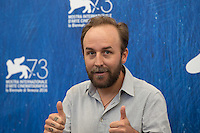Derek Cianfrance at the photocall for The Light Between Oceans at the 2016 Venice Film Festival.<br /> September 1, 2016  Venice, Italy<br /> Picture: Kristina Afanasyeva / Featureflash