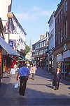 ATBK4D Busy pedestrianised shopping streets Norwich Norfolk England
