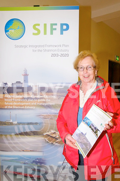 Strategic Integrated  Framework Plan for the Shannon Estuary : Pictured at the open evening at Tarbert Community Centre to launch the Strategic Integrated  Framework Plan for the Shannon Estuary 2013 - 2020 on Tuesday evening last was Joan Murphy, Chairperson Tarbert Development.