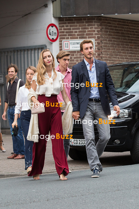 Soir&eacute;e d'avant-mariage du Prince Ernst junior de Hanovre et de Ekaterina Malysheva, &agrave; la Brasserie Ernst August Brauhaus, &agrave; Hanovre.<br /> Allemagne, Hanovre, 7 juillet 2017.<br /> Pre wedding party of Prince Ernst Junior of Hanover and Ekaterina Malysheva at the Ernst August Brauhaus restaurant in Hanover.<br /> Germany, Hanover, 7 july 2017<br /> Pic : Prince Pierre Casiraghi &amp; wife Beatrice Borromeo, Princess Alexandra of Hanover &amp; Ben Silvester Strautmann