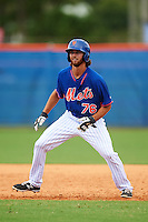 New York Mets Gene Cone (76) during an Instructional League game against the Miami Marlins on September 29, 2016 at the Port St. Lucie Training Complex in Port St. Lucie, Florida.  (Mike Janes/Four Seam Images)