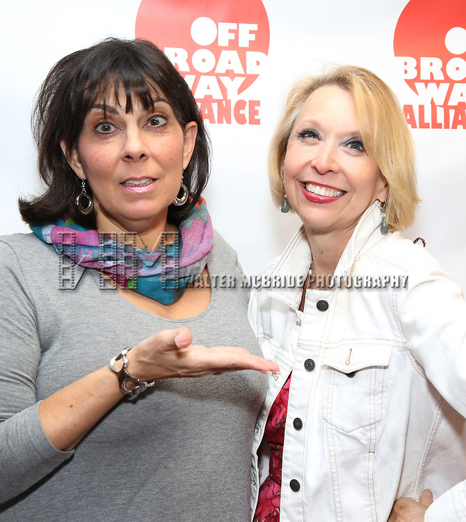 Christine Pedi and Julie Halston attends the 7th Annual Off Broadway Alliance Awards at Sardi's on June 20, 2017 in New York City.