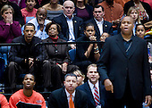 Washington, DC - November 28, 2009 -- United States President Barack Obama (L) watches a basketball game with his mother in law Marian Robinson (2L), wife First Lady Michelle Obama (3L) daughter Sasha Obama (3R), brother in law Craig Robinson (2R) and daughter Malia Obama (R) at George Washington University, Saturday,  November 28, 2009 in Washington, DC.  President Barack Obama attended the game between George Washington University and Oregon State, which is coached by his brother in law Craig Robinson.  .Credit: Brendan Smialowski / Pool via CNP