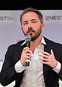 April 6, 2017, Tokyo, Japan - Drew Houston, CEO and co-founder of Dropbox, American file hosting service giant delivers a keynote speech at the New Economy Summit 2017 in Tokyo on Thursday, April 6, 2017. Entrepreneurs and venture companies leaders deliver speeches at a two-day seminnar.   (Photo by Yoshio Tsunoda/AFLO) LwX -ytd-