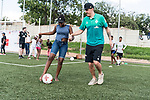 08.01.2019, AMANDLA Save Hub, Johannesburg, RSA, TL Werder Bremen Johannesburg Tag 06 - Besuch des AMANDLA Save Hub<br /> <br /> im Bild / picture shows <br /> <br /> Max Kruse (Werder Bremen #10)<br /> <br /> **** Attention *** **** Attention *** <br /> <br /> Only be used for the purpose of documenting the Safe-Hub visit on 08 January 2019<br /> <br /> Foto © nordphoto / Kokenge