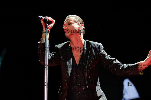 DEPECHE MODE - vocalist Dave Gahan - performing live at Staples Center in Los Angeles, CA USA on September 28, 2013.  Photo Credit: Kevin Estrada / IconicPix