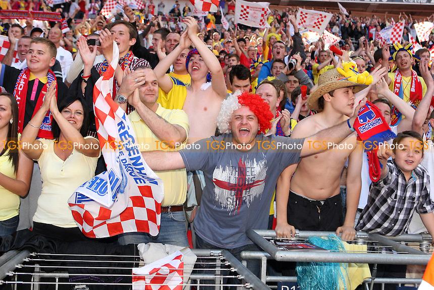 Daggers fans enjoy the day at Wembley - Dagenham & Redbridge vs Rotherham United - Coca Cola League Two Play-Off Final at Wembley Stadium -  30/05/10 - MANDATORY CREDIT: Gavin Ellis/TGSPHOTO - Self billing applies where appropriate - Tel: 0845 094 6026