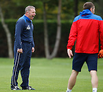 Ally McCoist laughing at his training field nemesis Kirk Broadfoot