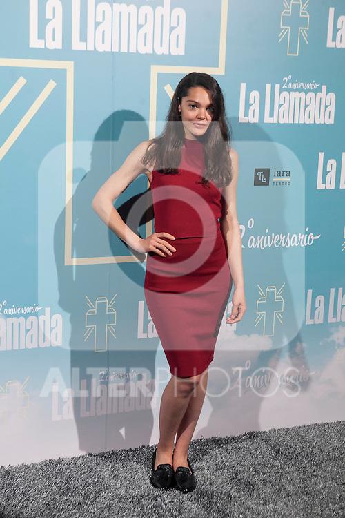 Ana Rujas attends La Llamada theater play in Madrid, Spain. April 15, 2015. (ALTERPHOTOS/Victor Blanco)